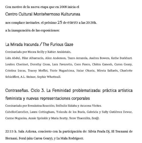 Invitación a la inauguración de Montehermoso