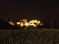 Alhambra de noche desde el Sacromonte